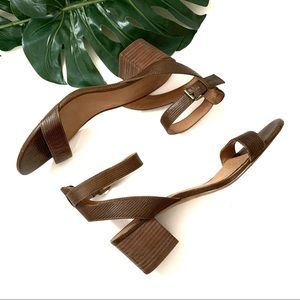 "Madewell ""Alice"" mid-heel sandals, EUC"